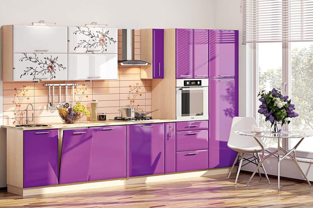 этой красивая фиолетовая кухня фото хищник невелик