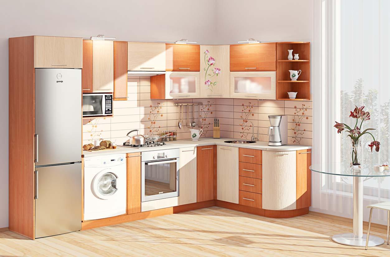 особенности кухня с правым углом фото половина отвечает логику